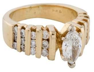 14K Marquise Diamond Engagement Ring