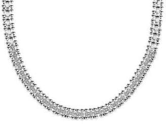 "Lagos Caviar Spark Diamond Collar Necklace, 18"""