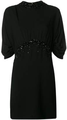 Prada crystal embellished mini dress