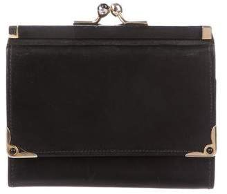 Judith Leiber Leather Compact Wallet