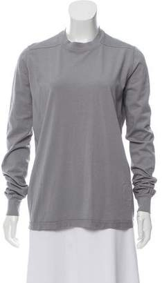 Rick Owens Crew Neck Long Sleeve Top w/ Tags
