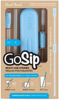 Gosip 6-Piece Glass Straw Set