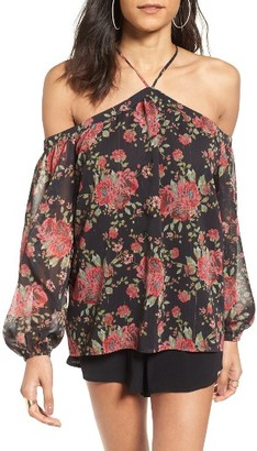 Women's Wayf Liberty Off The Shoulder Blouse $59 thestylecure.com