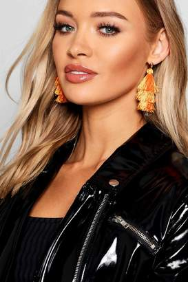 boohoo Tiered Tassel Earrings