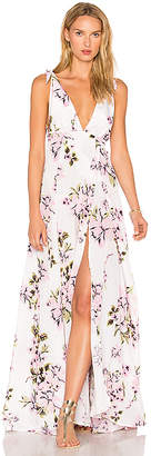 Beach Riot Deep V Floral Gown