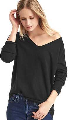 Soft open V-neck sweater $69.95 thestylecure.com
