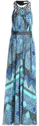 Matthew Williamson Wrap-Effect Printed Silk-Chiffon Gown