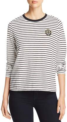 MKT Studio Toby Striped Mickey Mouse Patch Tee
