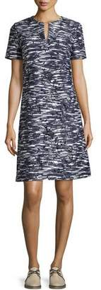Tory Burch Dina Space-Dyed Cutout Dress