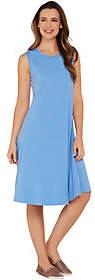 Denim & Co. Essentials Sleeveless Knit Dress w/Seam Detail