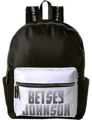 Betsey Johnson Sporty Logo Backpack Backpack Bags