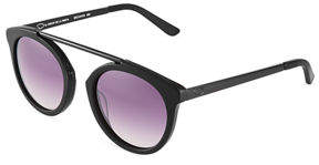 Oscar de la Renta O By Plastic Round Aviator Sunglasses