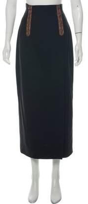Barbara Bui Wool Midi Skirt