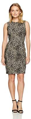 Calvin Klein Women's Petite Textured Sleeveless Princess Seam Sheath Dress
