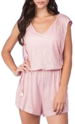Lucky Brand Solid Attitude Hooded Romper