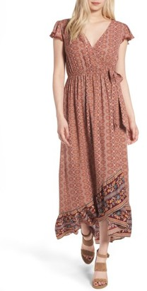 Women's Band Of Gypsies Faux Wrap Maxi Dress $55 thestylecure.com