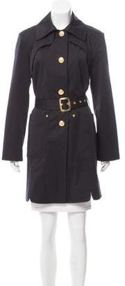 St. John Belted Knee-Length Coat