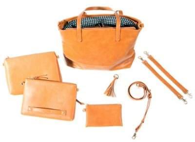 Bella TunnoTM Boss 5-in-1 Diaper Bag in Cognac
