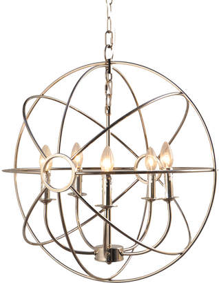 Abbyson Living Cornell 5-Light Chrome Orb Chandelier