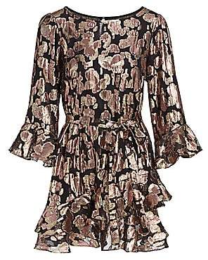 Saloni Women's Marissa Metallic Brocade Mini Dress