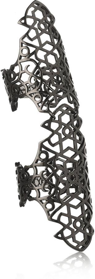 Repossi Maure 18-karat black gold-washed ring