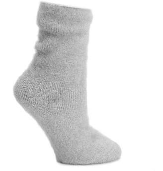 Lemon Fuzzy Ski Crew Socks - Women's
