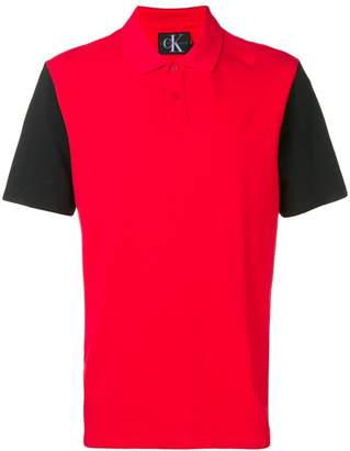 Calvin Klein Jeans colour block polo shirt