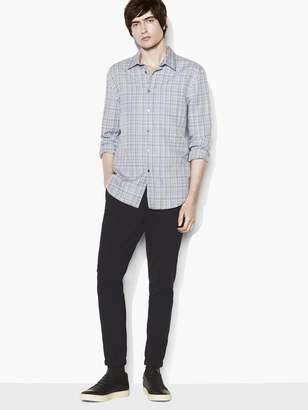 John Varvatos Plaid Roll-Sleeve Shirt