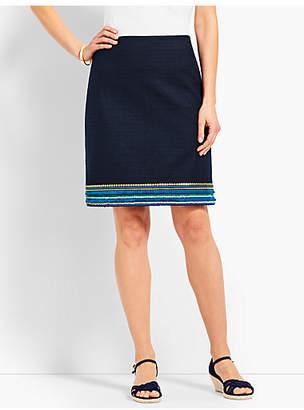 Talbots Embellished-Hem A-Line Skirt