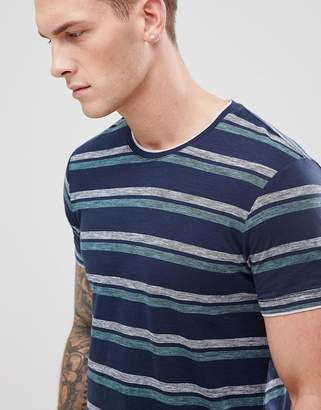 Esprit t-shirt with double stripe in navy