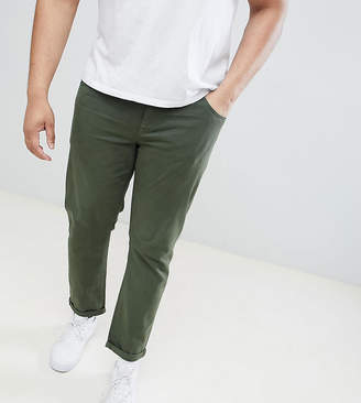 Asos DESIGN Plus slim jeans in green