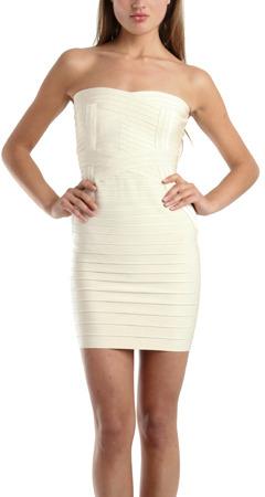 Herve Leger Colby Strapless Dress