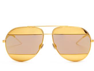 DIOR Split mirrored aviator sunglasses $394 thestylecure.com