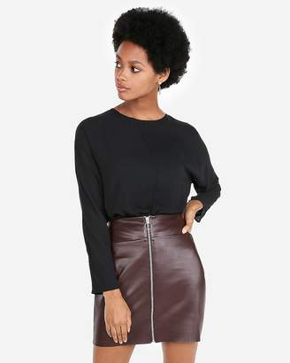 Express Banded Bottom Fitted Dolman Top
