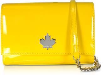 DSQUARED2 Eco Patent Leather Logo Shoulder Bag
