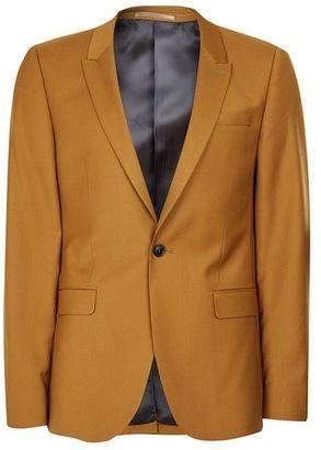 Dark Camel Ultra Skinny Fit Suit Jacket $220 thestylecure.com