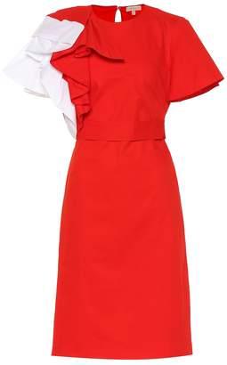 DELPOZO Ruffled cotton dress