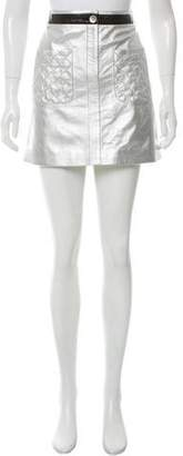 Chanel Metallic Leather Skirt w/ Tags