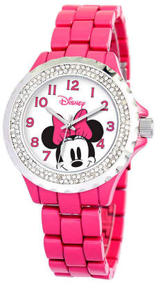 EWatchFactory Disney Minnie Mouse Women Pink Alloy Enamel Spark Watch