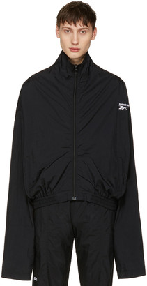 Vetements Black Reebok Edition Chav Track Jacket $990 thestylecure.com
