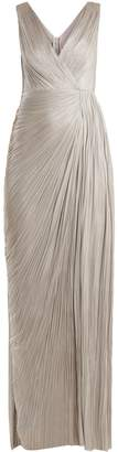 Maria Lucia Hohan Malou pleated silk gown