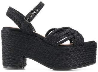 Castaner braided wedge sandals