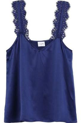 CAMI NYC The Chelsea Lace-trimmed Silk-charmeuse Camisole