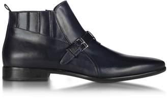 Loriblu Blue Leather Bootie