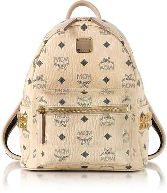 MCM Beige Mini Stark Backpack