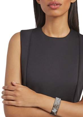 Panacea Goldtone & Snakeskin-Print Leather Cuff Bracelet