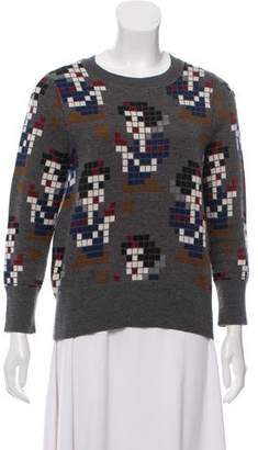 Marc Jacobs Silk-Cashmere Jacquard Sweater