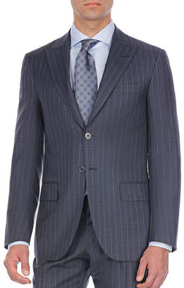 Isaia Pinstriped Two-Piece Wool Suit