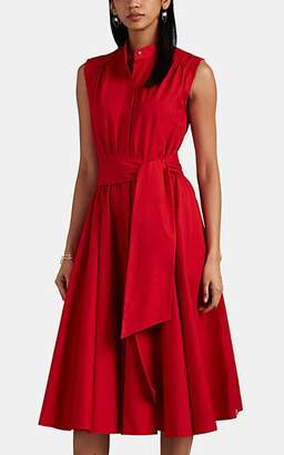 Barneys New York Women's Cotton Poplin A-Line Midi-Dress - Red