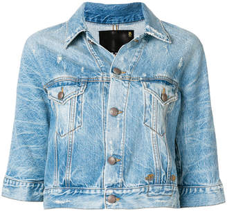 R 13 cropped denim jacket